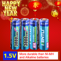 4pcs/lot Stable voltage 3000mWh AA batteries 1.5V rechargeable battery lithium polymer battery for camera ect