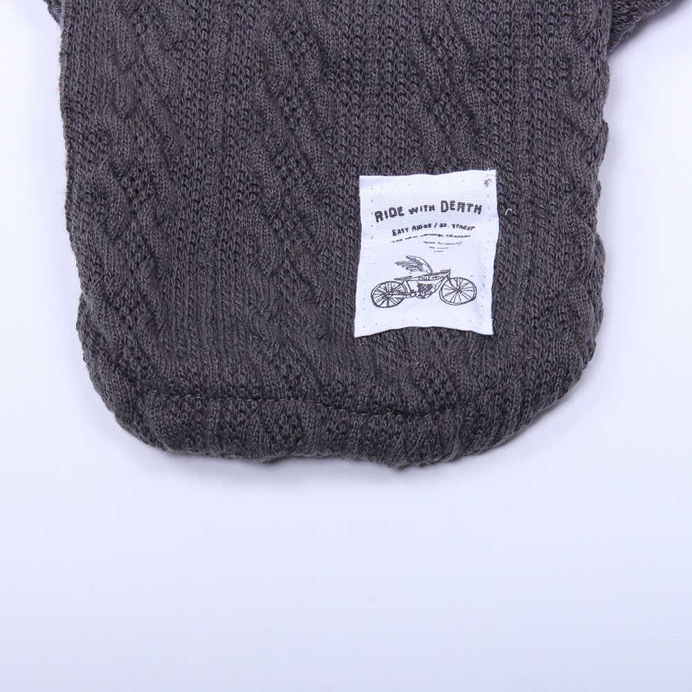 Вязаный свитер с капюшоном для собаки и кошки, куртка для щенка, теплая одежда, 2 цвета, 6 размеров
