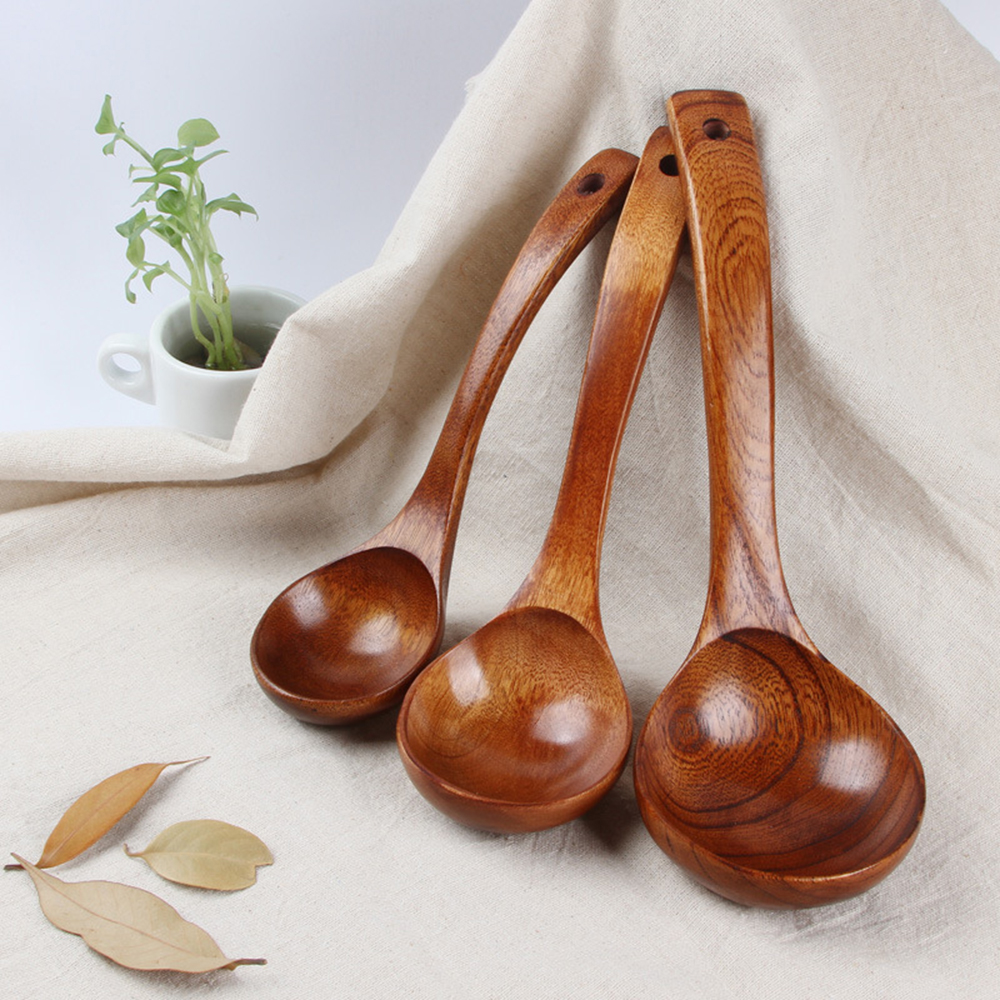 Kitchen Spoons: 1 Pc Wooden Spoon Kitchen Cooking Utensil Tool Soup