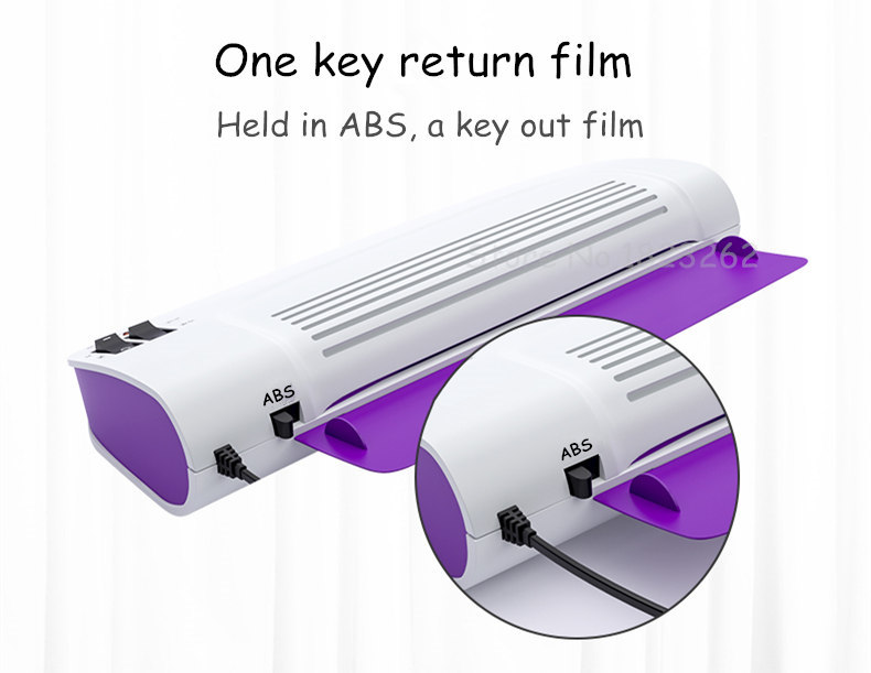 Professional Laminating Machine Made Of ABS Material for A4 Document Photo Blister