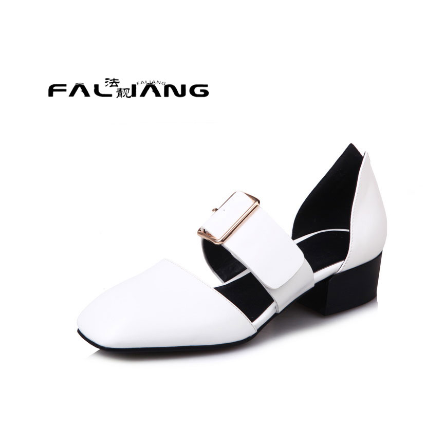 ФОТО Big Size 11 12  Solid clasp Solid clasp  Pu help face  Square   women's sandals women's shoes woman for women platform shoes