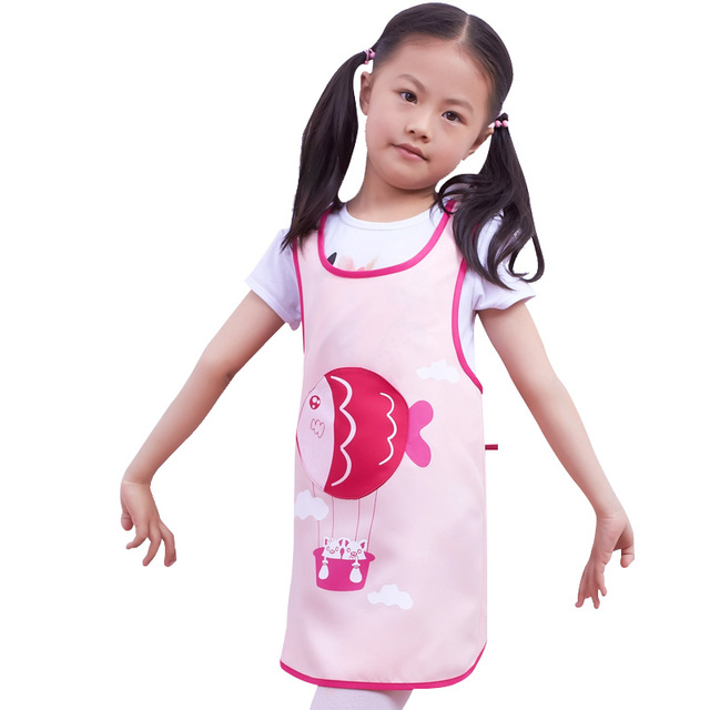 Kitchen Apron For Kids Magician New 2017 Drawing Painting Kindergarten Cute Children S Waterproof Anti Fish Clothing