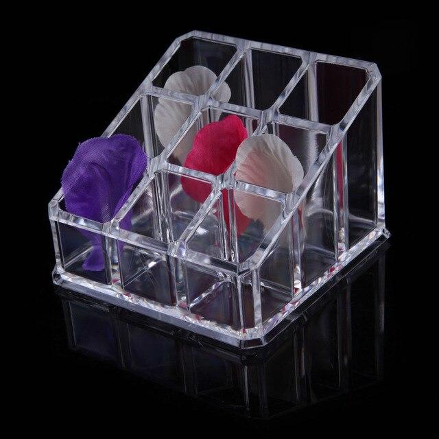 9 Grid Makeup Organizer Box Clear Acrylic Cosmetic Organiser Drawer