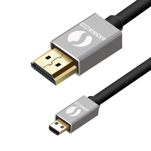 Micro HDMI Cable Micro HDMI Type D to HDMI Type A High Speed Cable with Ethernet Gold Plated Support 3D 4K Audio Return Channel