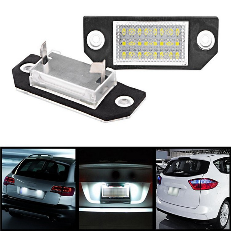 2Pcs/Set LED Number License Plate Lights Pure White Color For Ford Focus C-MAX MK2 03-08 Free Shipping ключ накидной set hing license 110mm