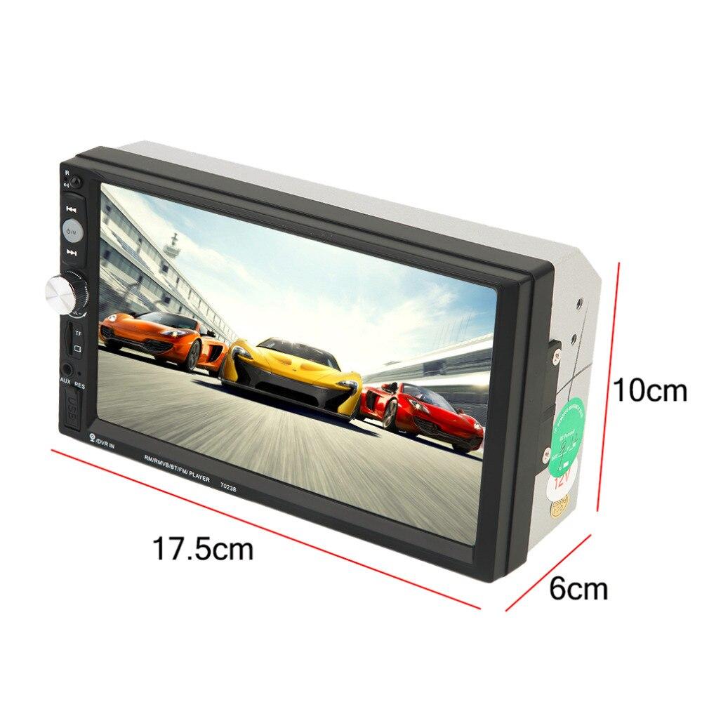 imágenes para 2017 CATUO Nueva 7023B Auto Car 2 Din Coche Reproductor de DVD 7 Pulgadas Scrren Táctil Radio Bluetooth Reproductor de Cámara de Visión Trasera de Entrada 12 V