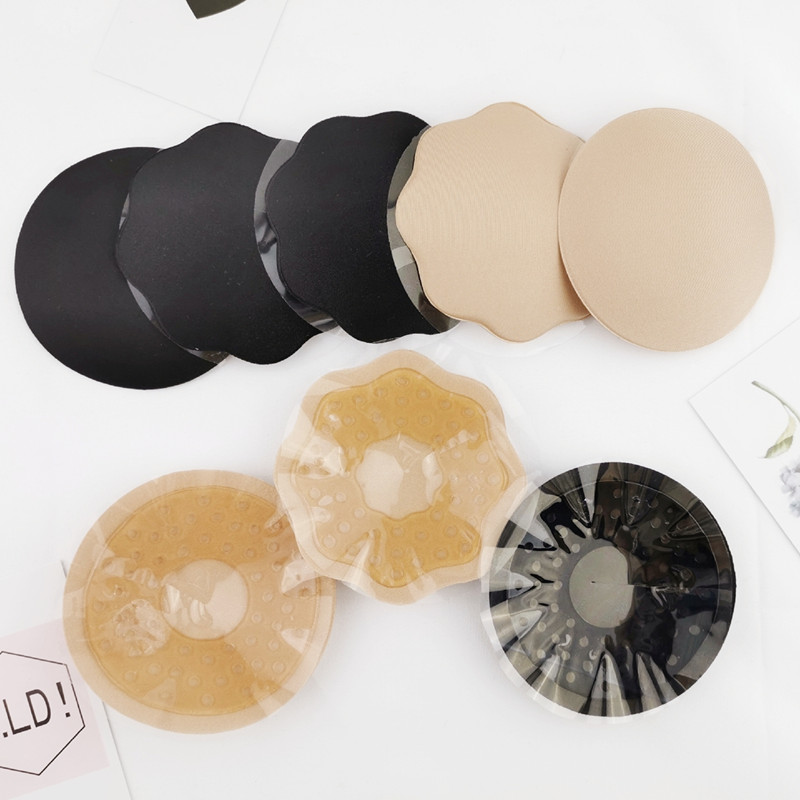 Strapless Backless Stick On Bra Silicone Stickers Women Breast Petals Lift Nipple Soft Invisible Petal Adhesive Breathable