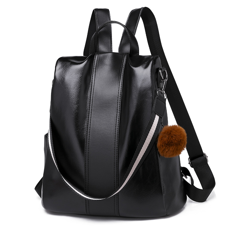 Classic Female Backpack Fashion Korea Casual Women PU Leather Back Pack Cross Shoulder School Bags