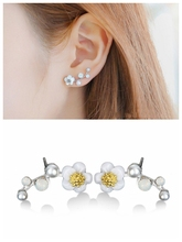 Hot style Korean high quality shell flower pearl simple tree branch earrings temperament fashion earrings wholesale women цена 2017