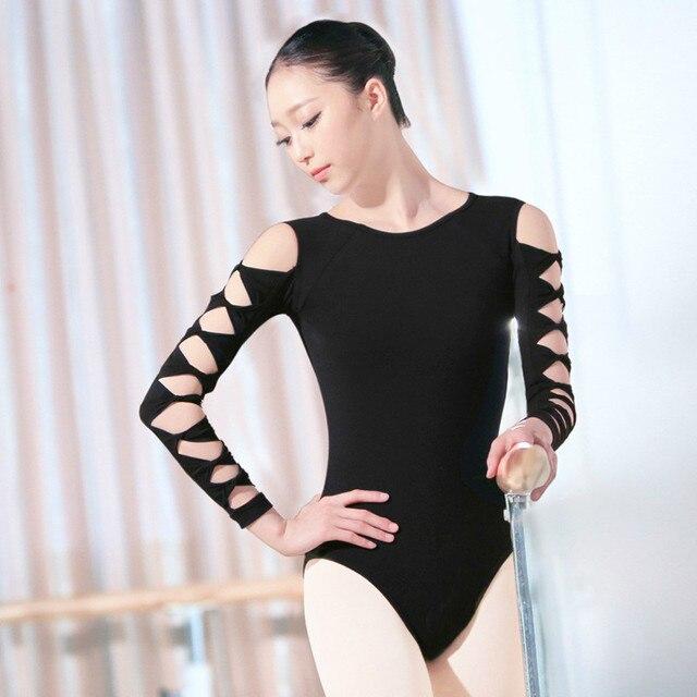 41d61092fb1d Wholesale Girls Adults Ballet Leotards Sexy Hollow Sleeve Black Swan ...