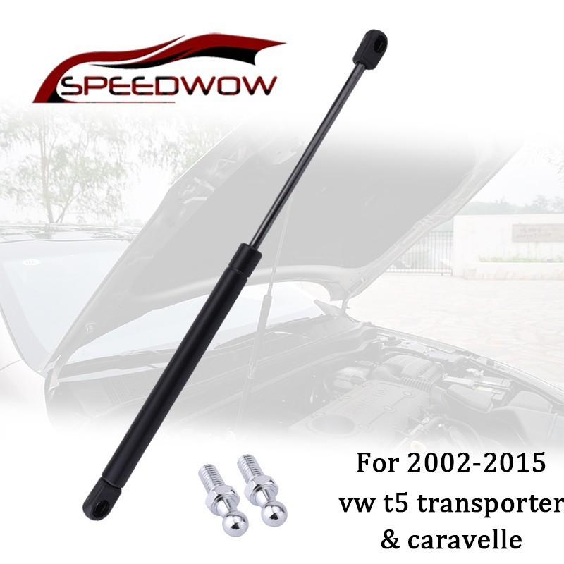SPEEDWOW Car Bonnet Hood Lift Supports Shock Struts Gas Shock Struts Support 7E0823359 For VW T5 Transporter Caravelle 2003-2015