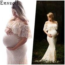 47a682cbc Envsoll vestidos de maternidad para foto tiro vestido rojo maternidad  fotografía apoyos Maxi vestido de embarazo