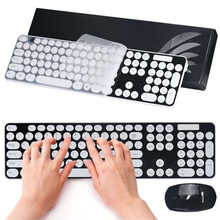 Special Circel Key Top Quality Good For Type 2.4G Multimedia Wireless Mouse and Keyboard Set for Desktop Laptop PC May26D6