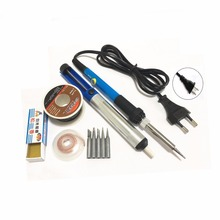 Thermostatic soldering iron set Soldering Stations Household welding pen Adjustable Soldering iron 60W 220V цена