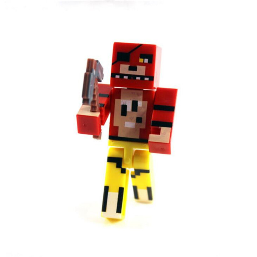 7 CM Hot 1Pcs Minecraft Five Nights At Freddy's 4 FNAF Foxy Chica Bonnie Freddy PVC Anime Action Figure Kids Toys Gifts 4 Style