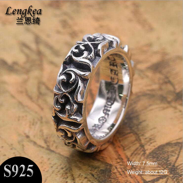 Male rings Men jewelry 100% 925 sterling silver ring retro Eternal Flower ring charms trinket rings for women jewelry 25 style 925 sterling silver ring charm princess crown flower heart silver charms finger ring for women jewelry