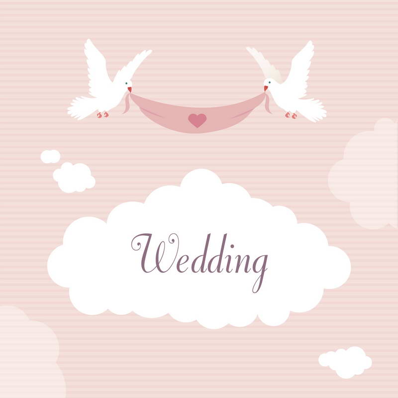 Wedding Cloud Pink Wall photo backdrop Vinyl cloth High quality Computer printed wedding Backgrounds for sale
