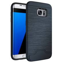 WolfRule For Samsung Galaxy S7 Edge Case Hybrid PC Shockproof Card Slot Holder Cover Case For Samsung S7 Edge G9350 Case Fundas