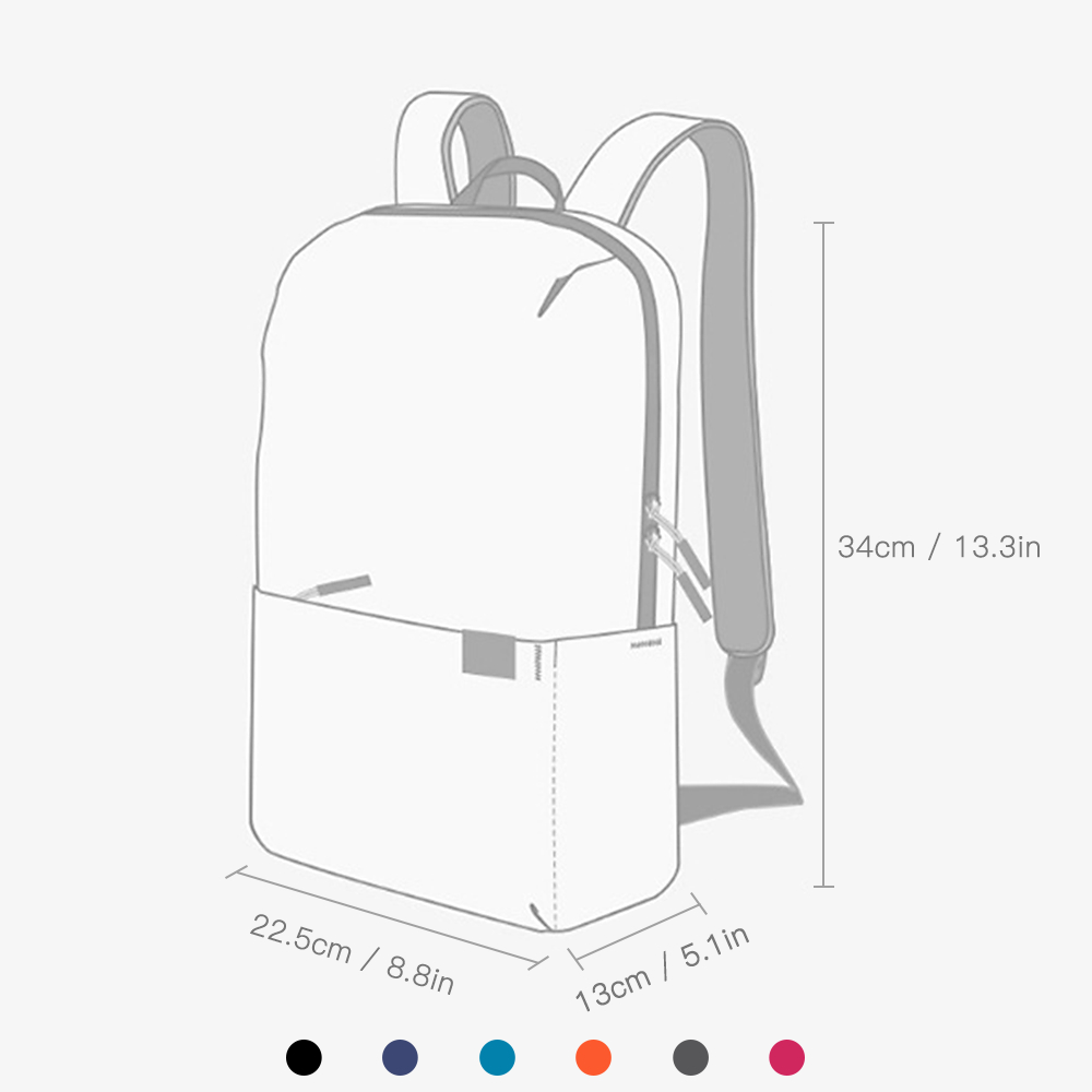 10L Backpack Waterproof Fitness Bag Sports Bag Women's Spacious Backpack Travel Camping Bag red one size 14