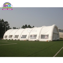 Commercial grade PVC outdoor inflatable camping tent, white party tent, inflatable tunnel for tennis court