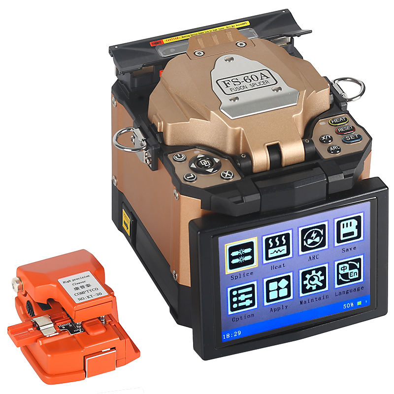 New pattern FTTH Fiber Optic Welding Splicing Machine Optical Fiber Fusion Splicer FS 60C