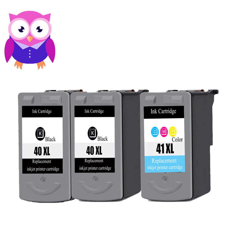 3Pack Hot For Canon PG40 CL41 PG 40 CL 41 Compatible ink cartridges 40 iP1600 / IP1700 / IP1800 PG 40 CL41 MP450 MP470 printer