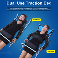 Lumbar Spine Traction Bed Cervical Spine Therapy Massage Bodys Stretch Device Reduction Spinal Joint Pressure Steel Pipe Health