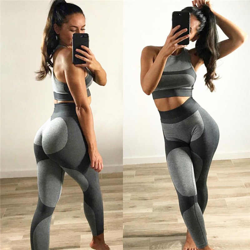 8838c835c320f Hot 2018 Sexy Running tights Women Gym Sportwear leggings for fitness girls  jogging pant high waist