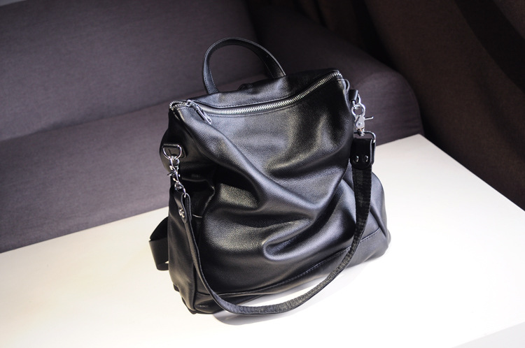 Casual Backpack Women Genuine Leather Designers For Girls School Backpacks cowhide Womens Backpack Bag woman Travel