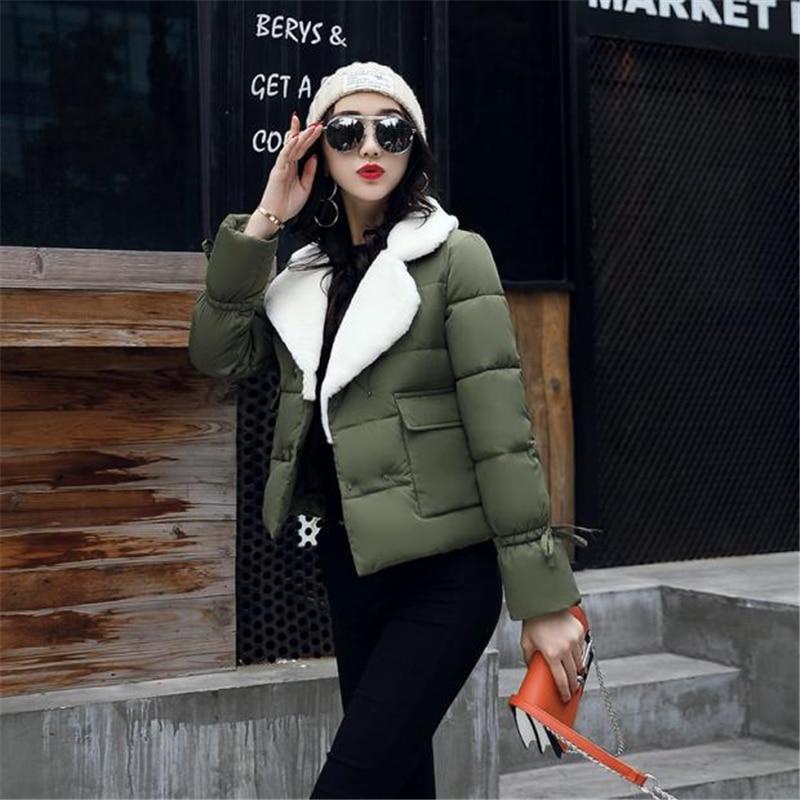 D'hiver Mince Vers rose Femmes Bas rouge jaune Parkas Casual army Mode Wld224 De Épais Green Tournent coffee Survêtement 2018 Manteau Le Chaud Veste Noir Court Femelle 5agqxxY