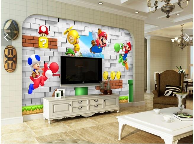 US $30.72 |Große moderne cartoon tapete schlafzimmer kinderzimmer  dekoration wandbild tapete 3D hintergrund wand papier Super Mario in Große  moderne ...