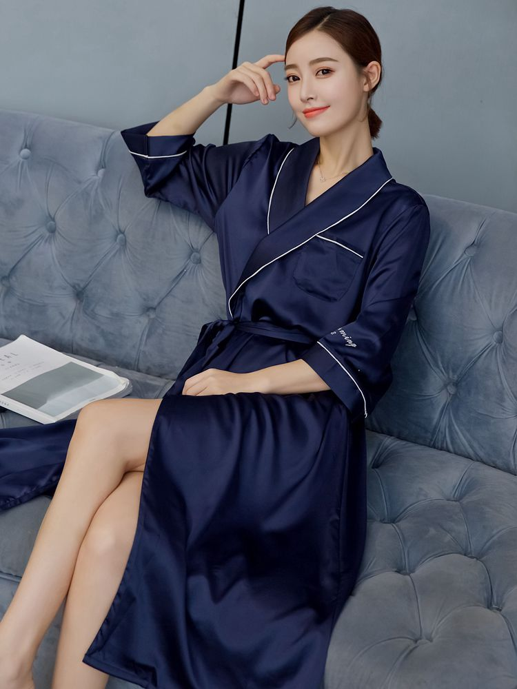 2019 summer wedding bride bridesmaid floral robe bathrobe nightgown for women kimono sleepwear flower plus