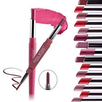 18 Color Double-end Lip Makeup Lipstick Pencil Waterproof Long Lasting Tint Sexy Red Lip Beauty Matte Liner Pen 300Pcs/Lot