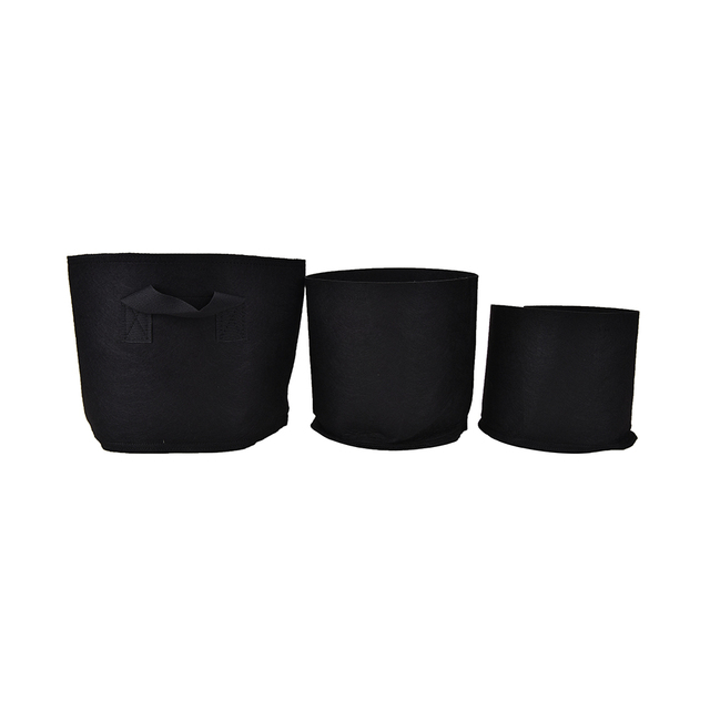 Black Garden Pots Round fabric pots plant black 3 size pouch root grow bag aeration round fabric pots plant black 3 size pouch root grow bag aeration pot container pe flower workwithnaturefo