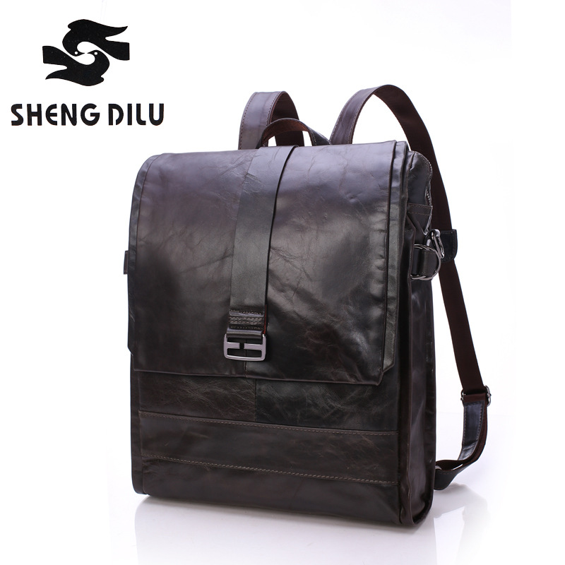 High Quality England Vintage Genuine Leather Men Backpacks For College Preppy Style School Backpacks for 16 inch laptop bags the latest stirling model boutique stirling