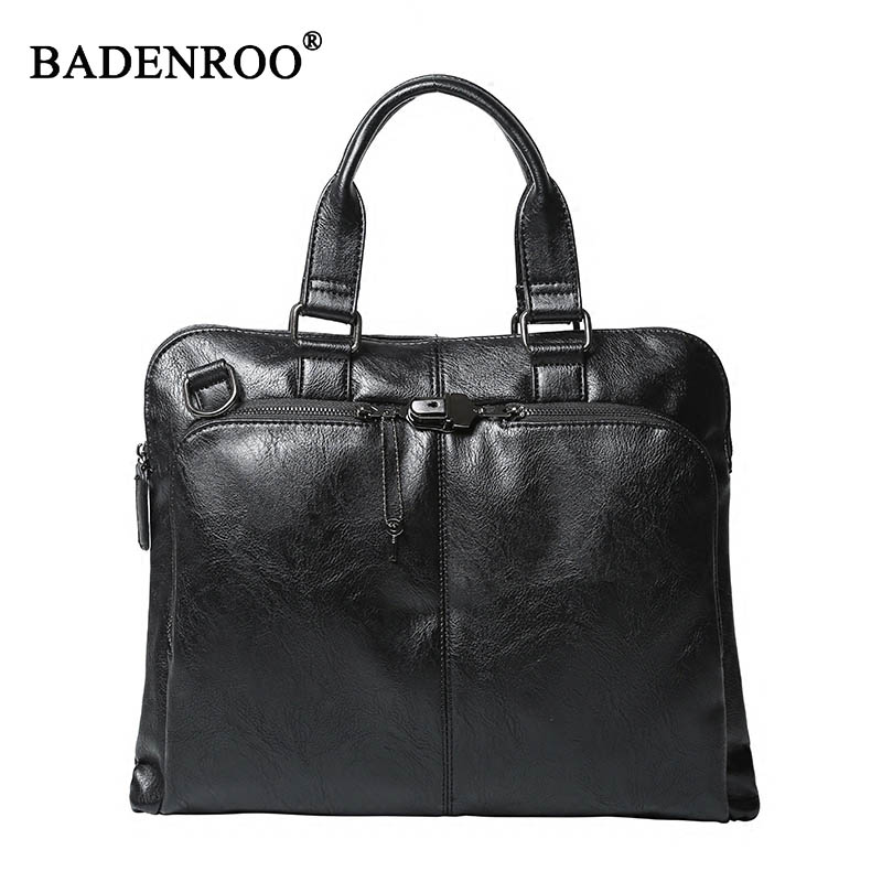 Men Casual Handbags pu Leather Large Capacity Men Computer Laptop Bags Man Business Briefcases High Quality New Male Tote bags 2016 new fashion business travel sports men handbags with high quality vintage male packs large capacity man bags