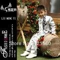 Бесплатная доставка смокинг для мальчиков в белом 7 компл. для 2 - 12 могут быть настроены пиджаки костюмы