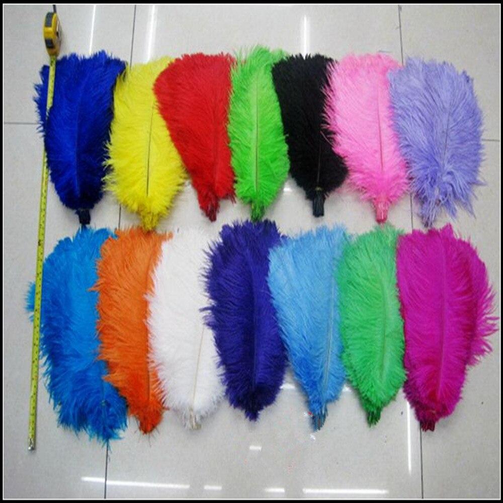 """45 50 cm 18 20 """"plumas de avestruz pluma de avestruz centros de mesa de boda 50 unids/lote-in Pluma from Hogar y Mascotas    1"""