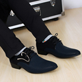New fashion lace-up de Color a juego de Los Hombres traje de Oficina Zapatos de Vestir de punta de Los Hombres de Cuero zapatos Masculinos planos de los hombres