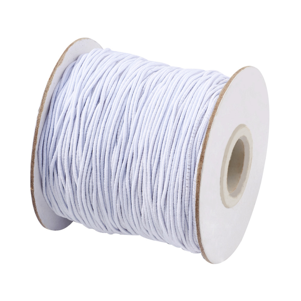 Pandahall 100m/roll 1mm Round Elastic Cord Stretch String with Nylon Outside and Rubber Inside 17 Colors for DIY Jewelry Making(China)