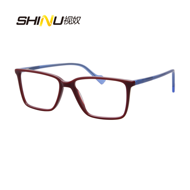 821fc5e1257 Hot Sale Square Eyewear Fashion Ultra Thin Acetate Frame Eyeglasses Female  Male Spectacle Frame Clear Lens Optical Glasses SH044