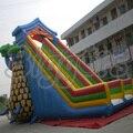 12 M * 7 M * 8 M PVC Tobogán Inflable Comercial Diapositiva de Salto Con Doble Carril Para Los Niños