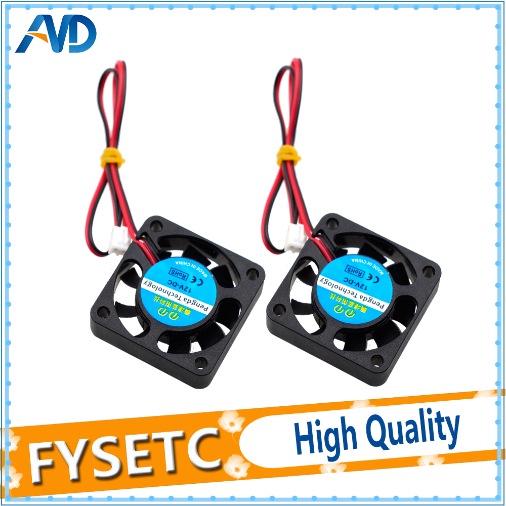 2pcs 4010 Cooling Fan 12V 2 Pin with Dupont Wire Brushless 40*40*10 Cool Fans Part Quiet DC 40m Cooler Radiato For Anet A8 A6 free shipping emacro young lin dfs701512m dc 12v 2 8a 2 wire 2 pin connector 100mm 70x70x15mm server square cooling fan
