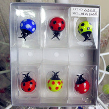 Custom Munuola color glass sculpture Home Furnishing Ladybug decoration set hand blown cartoon animal ornaments