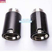 1 PCS M Performance Akrapovic carbon fiber Exhaust Tip for BMW Series M3 M4 M5 2012 earlier car styling car exhaust