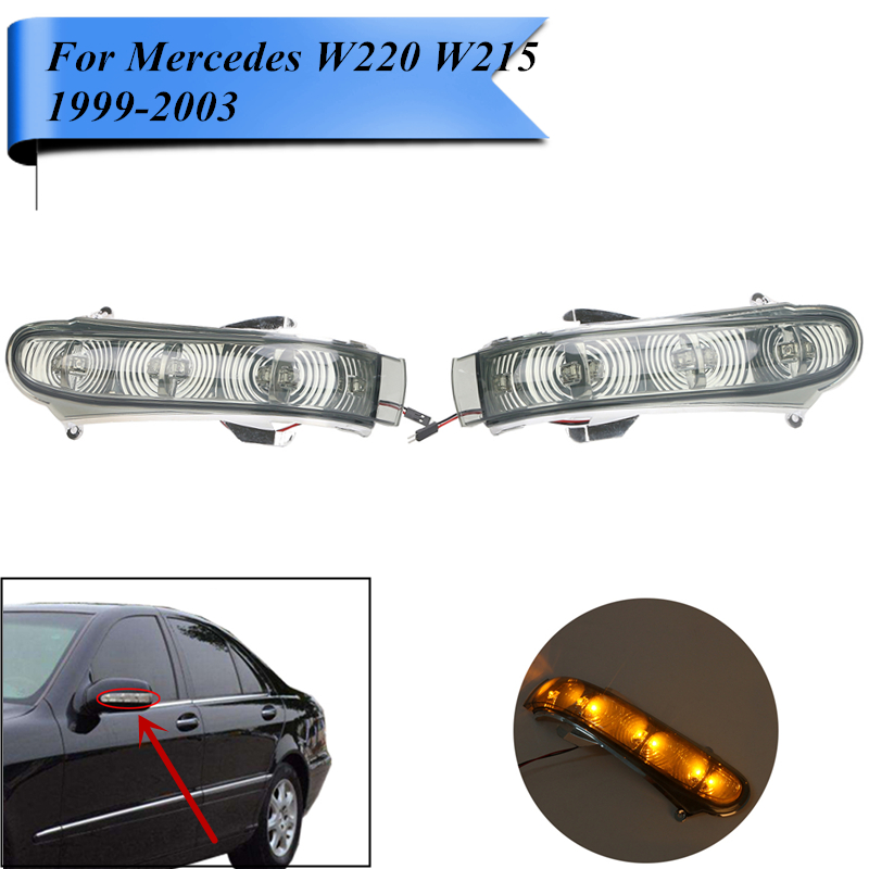 LED Turn Signal Light For Mercedes Benz W220 W215 CL500 CL600 S430 S500 S600 CL55 S55 AMG Direction Indicator Lamp #P379-G door mirror turn signal light for mercedes benz w163 ml270 ml230 ml320 ml400 ml350 ml500 ml430 ml55