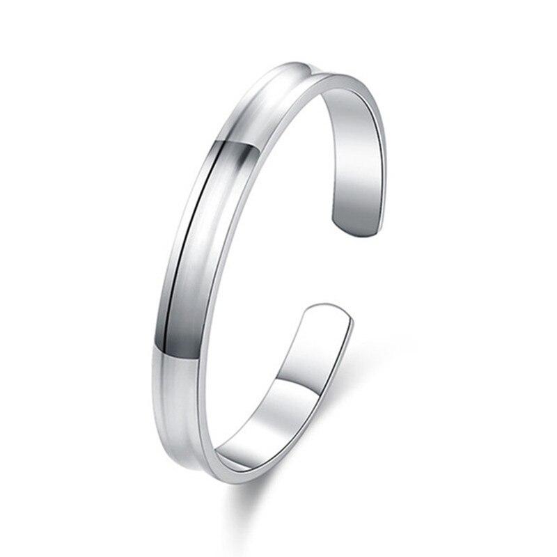 ⑧Vintage clásico mano de la cadena de lazo cerrado plata Brazaletes ...
