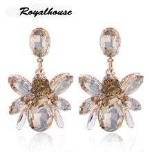 Royalhouse Resin Earring Insect Big Earrings Copper Large glass earrings Brinco Ear Oorbellen Christmas  bohemian цена в Москве и Питере