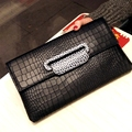 Fashion Crocodile Women Clutch Bag\Handbags 2017 New  Chain Envelopes Bag Shoulder Bag\Messenger Bag~16B31