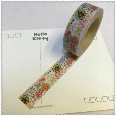 Beautiful High Quality  Washi Paper  Tape/15mm*10m Color Beautiful  Flowers  Masking  Japan  Washi Tape